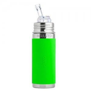 pura termo nerezová flaša so slamkou 260 ml zelená 6+