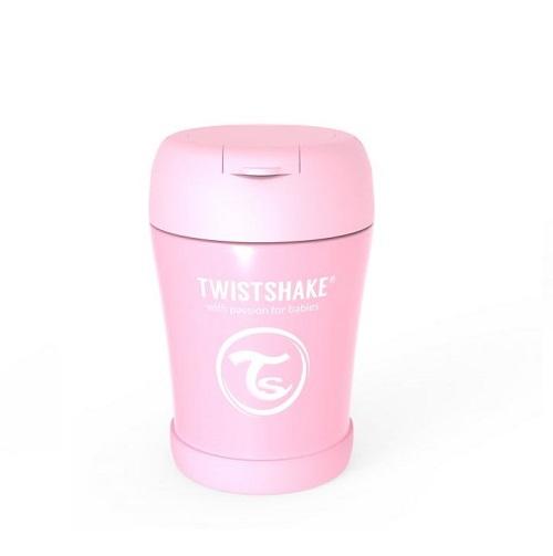 twistshake termoska na jedlo pastelovo ružová
