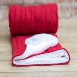 little eye deka červená s bielou podšitá