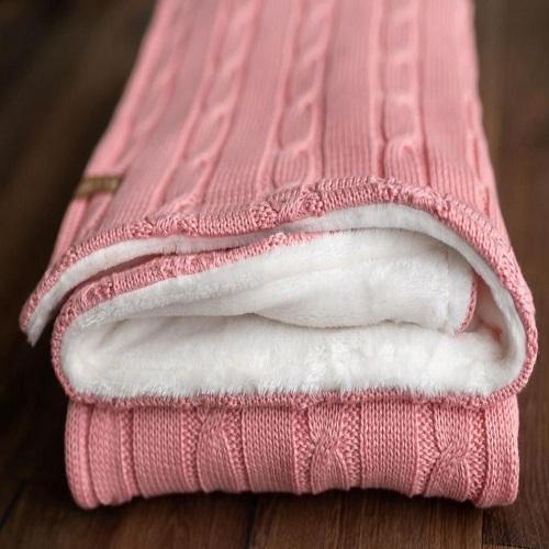 little eye deka púdro ružová so smotanovou podšitá