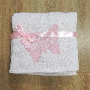 deka motýľ ružová